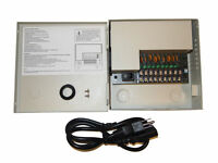 9 Ch Channel CCTV Security Camera 12V 5A DC PTC Power Supply Switch Box