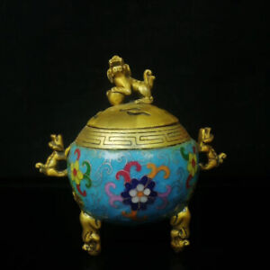 Cloisonne-Incense-Burner-Carved-auspicious-animal-Brass-incense-burner-BS065