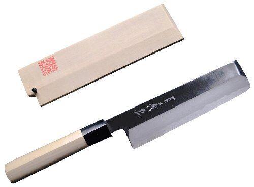 Japonais Yasuki Acier Chef's Vegetable knife 180 mm avec Saya Made in SAKAI JAPON