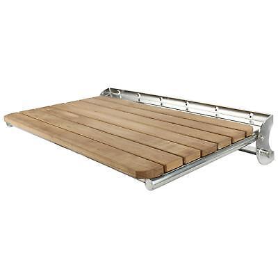 "Benches & Stools Furniture Folding Shower Bench Seat Teak Wood Bath Medical Wall Mount Seat23-5/8""x15""x1.7"""