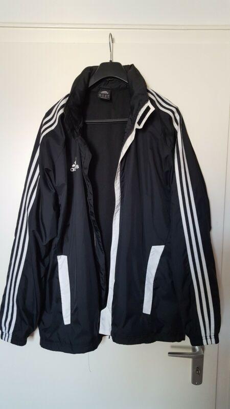 Adidas, Original Regen Jacke , (wind/regen), Original Schwarz Größe 7, Mann Schrumpffrei