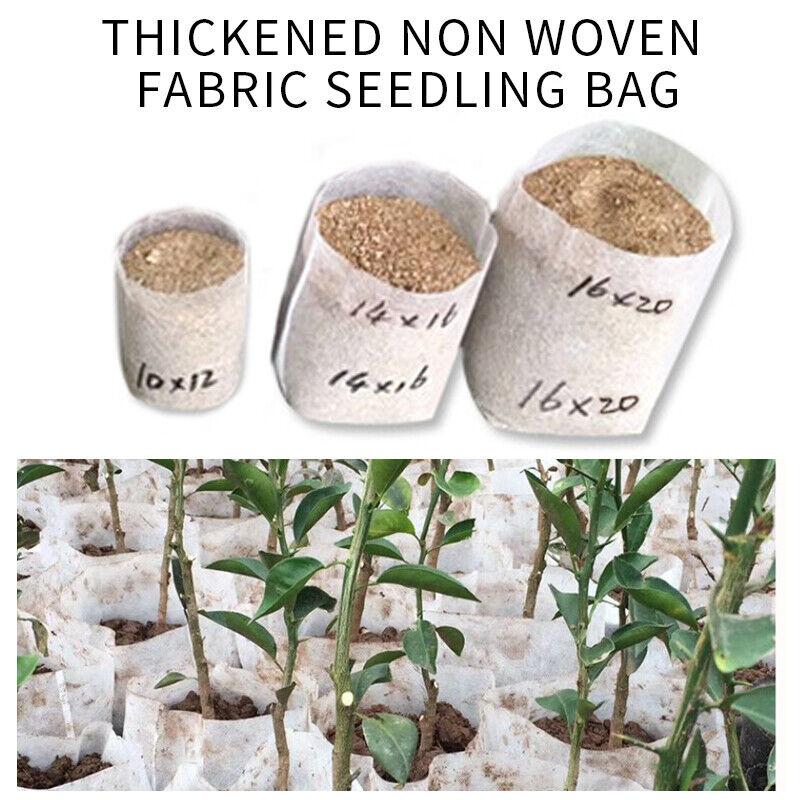 .100-10000PCS Biodegradable Non Woven Plant Bag Nursery Pots Grow Nursery Bag.