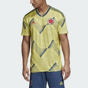 Details about Men's Size Small Adidas Colombia Home Jersey Shirt Top Soccer 2019 FCF H DN6619