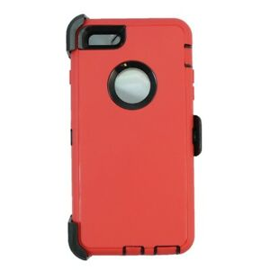 online store 3f6b7 43567 Details about Red Black For Apple iPhone 6S Plus Defender Case w/ Belt Clip  fits Otterbox