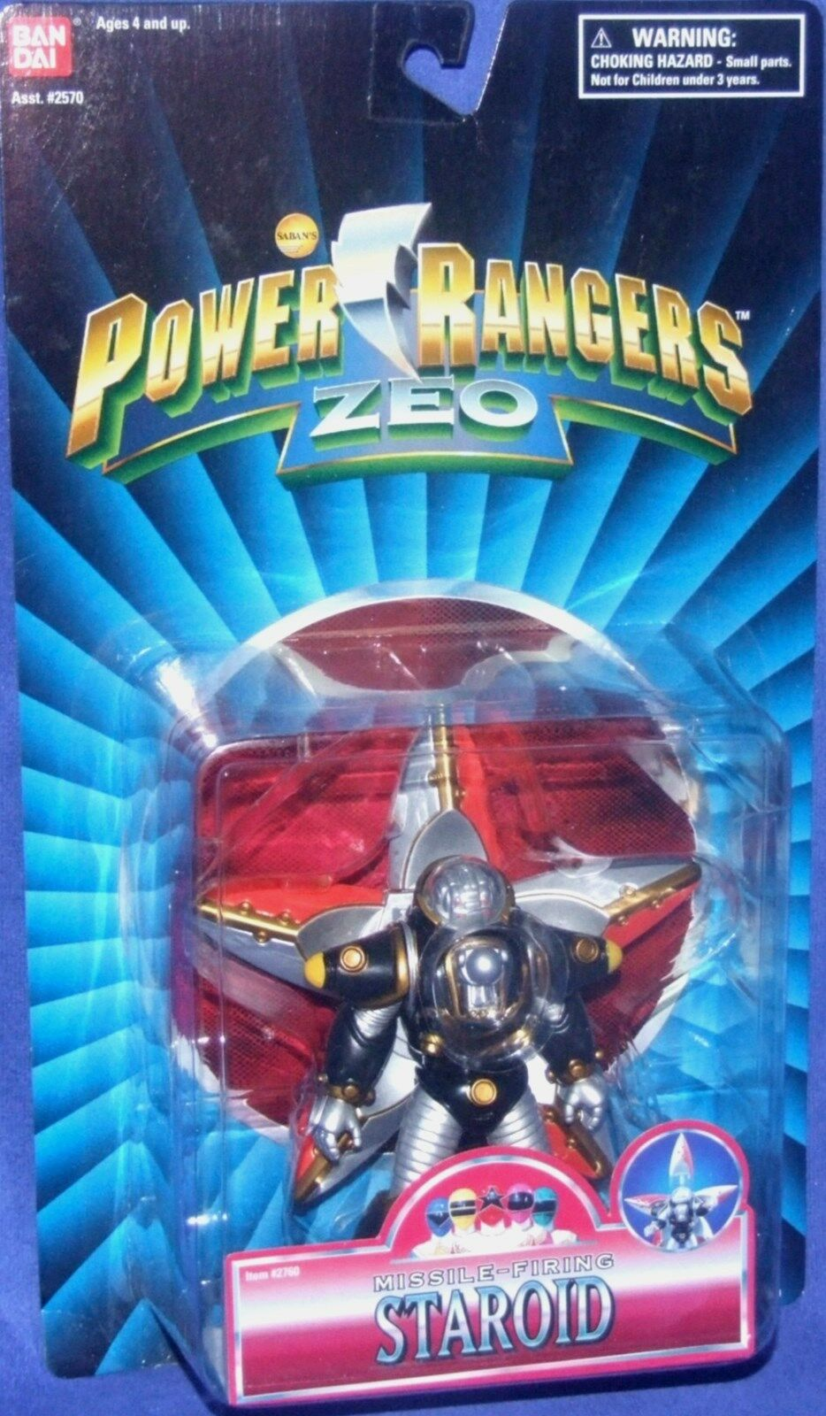 Energia Rangers ZEO 5   Evil Missile Firing estrellaOID nuovo Factory Sealed 1995  sport caldi