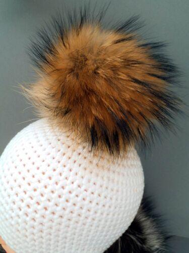 Pelzbommel Luxus Anhänger Waschbär Raccoon traumhaftschön ca 16 cm natur NEU