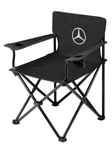 Genuine Mercedes-Benz Black Collapsible Folding Chair B67871621 NEW
