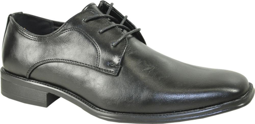 Bravo Milano-4 Black Dress Oxford Classic Plain Square Toe Leather Lining