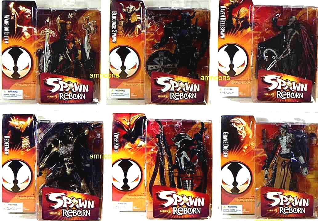 McFarlane Toys Spawn Reborn Series 3 Action Figure New 6 Figure Set 2005