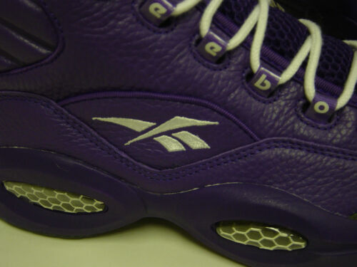 NEW Mens REEBOK Question Mid PE Purple SAMPLE AI IVERSON Sneakers Shoes DISPLAY