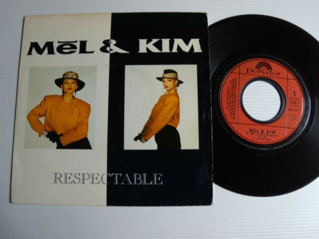 """MEL & KIM : respectable 7"""" 45T 1987 French pressing POLYDOR 885 843-7"""