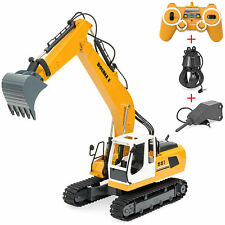 1/16 Scale 17 Channel RC Excavator Construction Truck w/ Rechargeable Battery