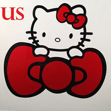 Hello Kitty W Red Bow Car Sticker Emblem Label / Window / LapTop / iPad Stick #4