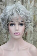 2014 fashion light gray curly women's short wavy wig for every day
