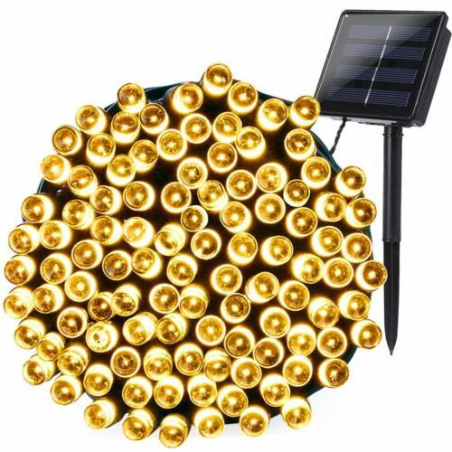 200//300LED Solar Lichterkette Außen String Licht Solarleuchte Garten//Party Dekor