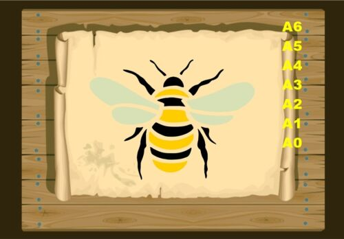 350 Stencil micron Mylar not thin stuff #Bee01 Bumble bee