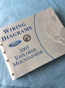 2005 Ford Explorer Mercury Mountaineer Wiring Diagrams Service Manual Book Guide Ebay