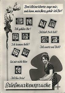 AK-BRIEFMARKENSPRACHE-1961-BEDEUTENDE-DT-GERMANY
