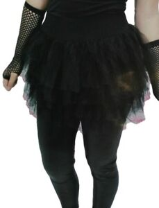 ae8c6cfd9e 80's Black Tutu Women Eighties Skirt Madonna Punk Goth Girl Costume ...