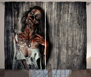 Zombie-Curtains-Angry-Dead-Woman-Window-Drapes-2-Panel-Set-108x63-Inches
