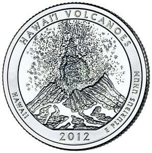 2012 P+D+S Hawaii Volcanoes National Park America the Beautiful ~ PD Mint Set