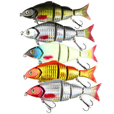 5pack Lifelike VIB Fishing Lures Crank Bait Hooks Bass Crankbaits Tackle Sinking