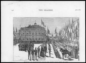 1874-Antique-Print-ROYAL-NAVAL-BRIGADE-REVIEW-QUEEN-VICTORIA-MILITARY-018
