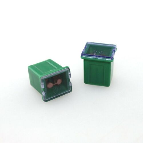 Green 40A AMP Female Plug in Blade Jcase Cartridge Low Profile PAL Fuse USA ABS