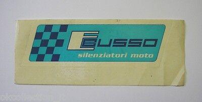 Vecchio Adesivo Auto Moto / Old Sticker Ebusso Silenziatori Moto (cm 14x4,5)
