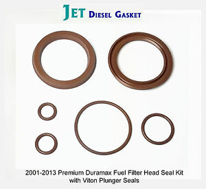 image is loading premium-duramax-fuel-filter-head-rebuild-seal-kit-