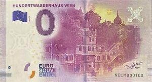 BILLET 0  EURO  HUNDERTWASSERHAUS WIEN  AUTRICHE  2017  NUMERO 100