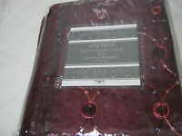 Estex Havanah Embroidery Fabric Shower Curtain 70x72 Burgundy Nip