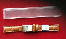Bracelet De Montre 18 MM  En Cuir ,et Boucle Déployante