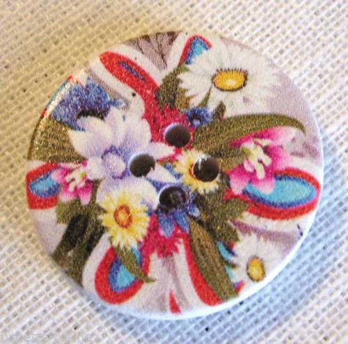 de 2 à 6 boutons 30//119 BOUTON BOIS ** 30 mm // 3 cm ** fleur au choix