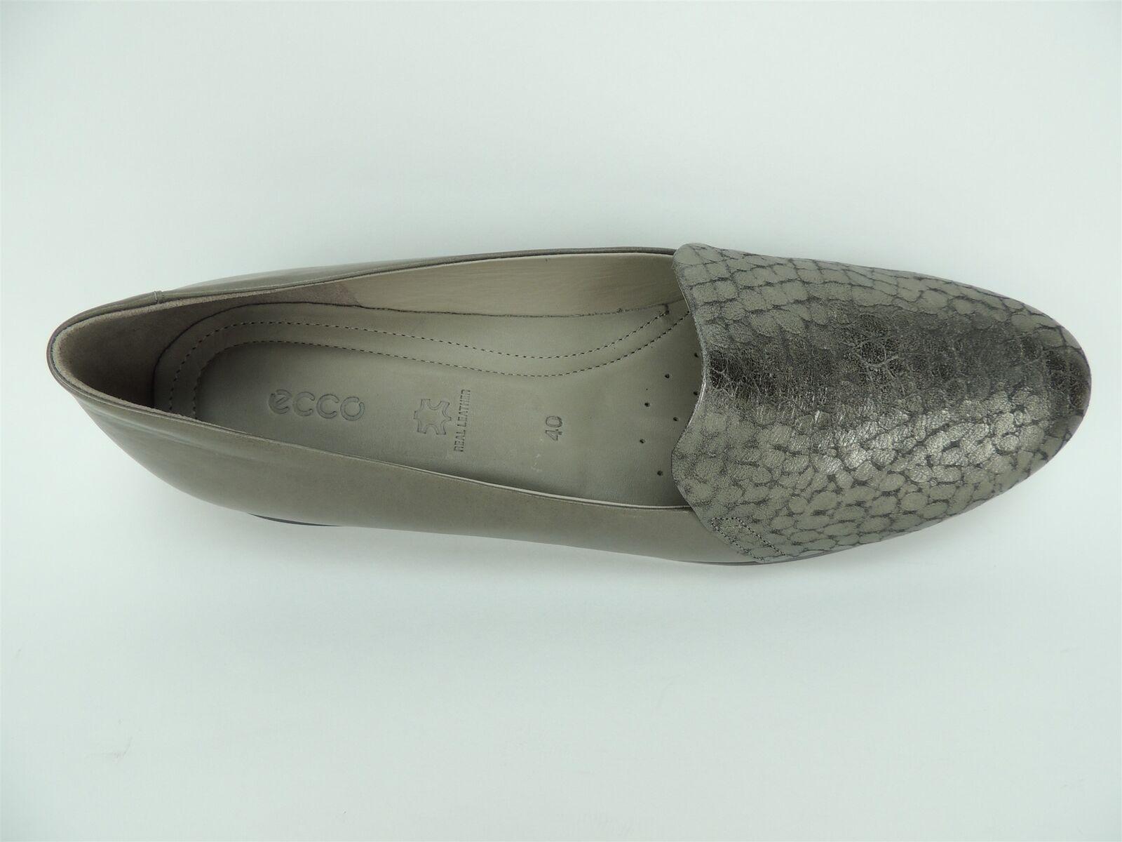 Ecco Women's Touch Ballerina 2.0 Flats Warm Grey Grey Grey Leather Size US 9-9.5 EU 40 c6f57d