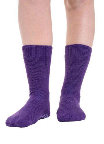 Women Girls Winter Soft Warm Thermal Gripper Slipper Socks Bed Sock UK Size 4-8