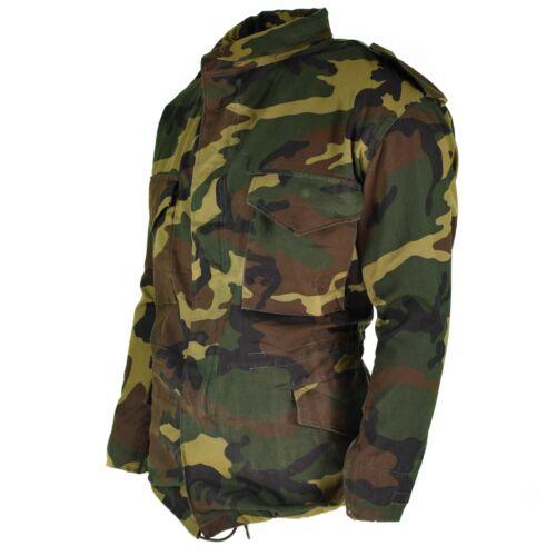 Genuine Croatian army jacket M65 military woodland BDU surplus