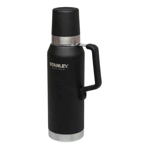 Stanley Thermoskanne 1,3 Ltr.Master Series Vacuum Bottle,schwarz, Camping 665700