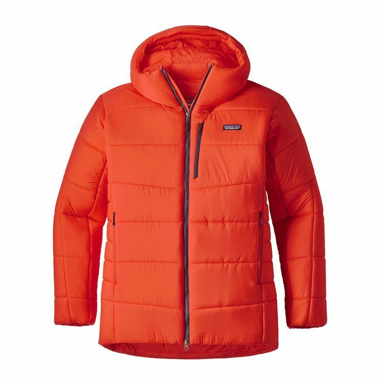 New w/tag 349  Herren Patagonia Hyper Puff Hooded Parka small Orange