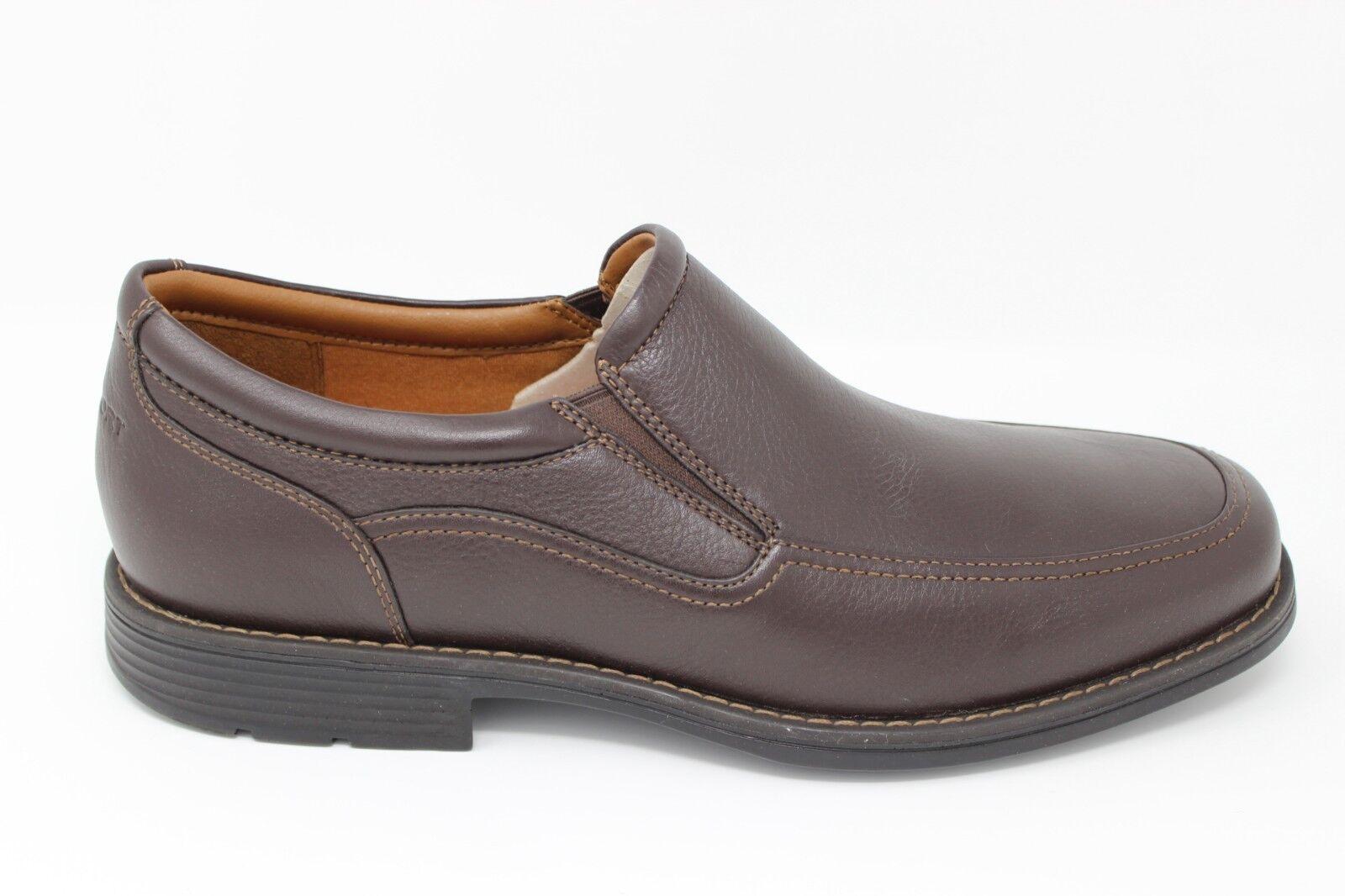 economico e di alta qualità Uomo Rockport Day Trading TWN GORE Slip On On On A13407 Dark Marrone Brand New  a buon mercato