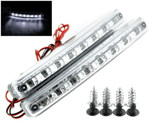 12V LED STRIP DRL DAYTIME RUNNING LIGHTS FOG COB CAR LAMP WHITE DAY DRIVING