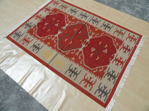 New Excellent Red 4x6 Hamadan Persian Oriental Area Rug 4/'x6/' Handmade Wool Rug