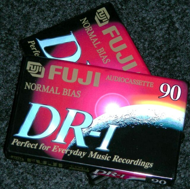 Lot of 3 FUJI DR-I 90 Min Normal Bias Recording Blank Audiocassette Tapes