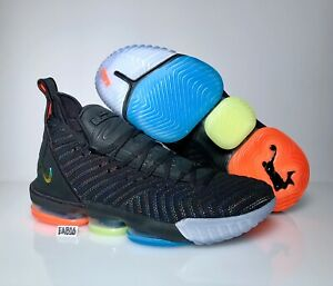 arrives 83aec 85909 Details about Nike Lebron James 16 XVI I Promise We Are Family AO2595-004  Black Blue Orange
