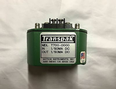 ACTION INSTRUMENTS T723-0000 USED TRANSPAK FIELD-CONFIGURABLE ISOLATOR T7230000