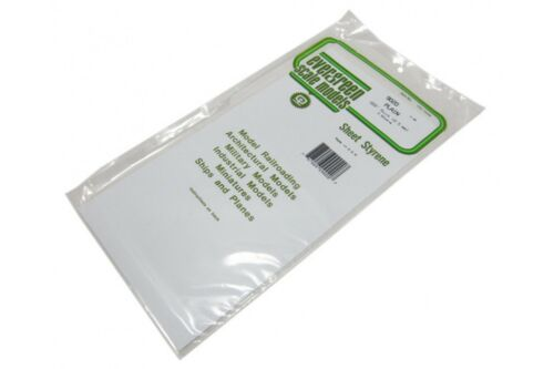0.5mm 3 pièces EVERGREEN EG9020 Plaques Blanches Styrene ep