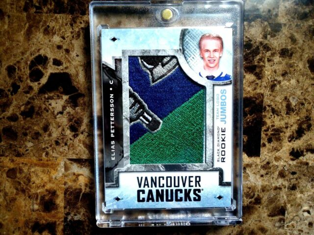 2018-19 BLACK DIAMOND HOCKEY ELIAS PETTERSON VANCOUVER ROOKIE TEAM JUMBOS LOGO M