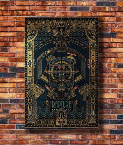 Hot Fabric Poster Bioshock Rapture Custom Hot Video 36x24 30x20 40x27inch Z21