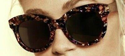 ☀️ Krewe Julia Matte Champagne Tortoise Brown Lenses New Display Bag Free S//H