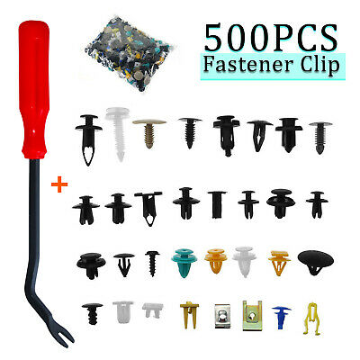 425x POM Car Body Retainer Assortment Clips Auto Tailgate Handle Rod Clips+Tool